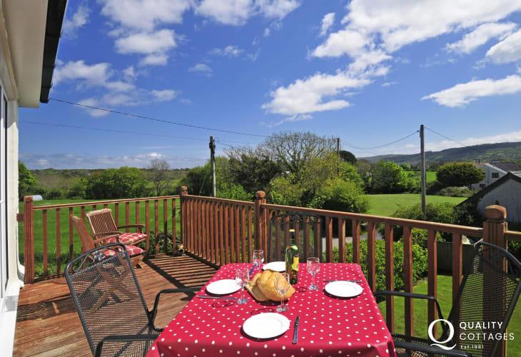 North Wales holiday house balcony