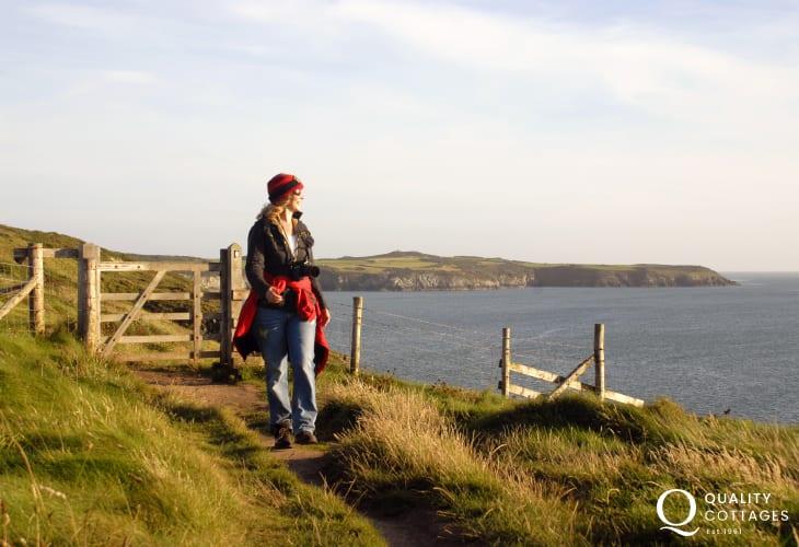 Fabulous cliff top walking along the Pembrokeshire Coastal Path