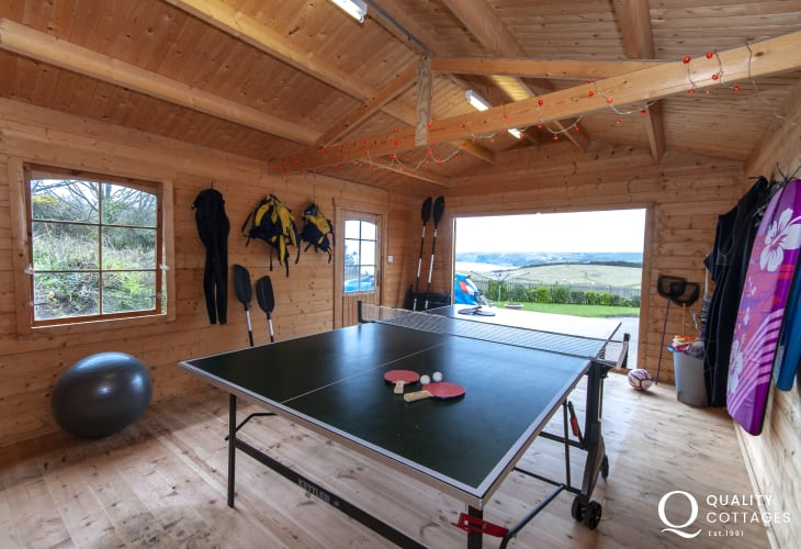 Little Haven holiday home with table tennis games room
