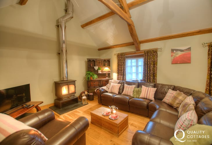 North Pembrokeshire holiday cottage - lounge with 42
