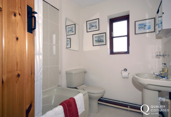 St Davids holiday cottage - family bathroom