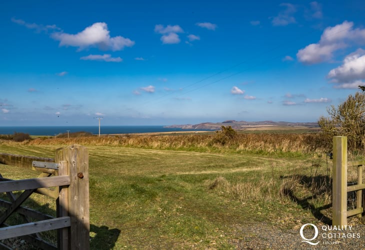 Countryside/coastal view from property