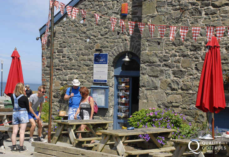 The Shed Bistro, Porthgain - a very popular restaurant over looking the harbour