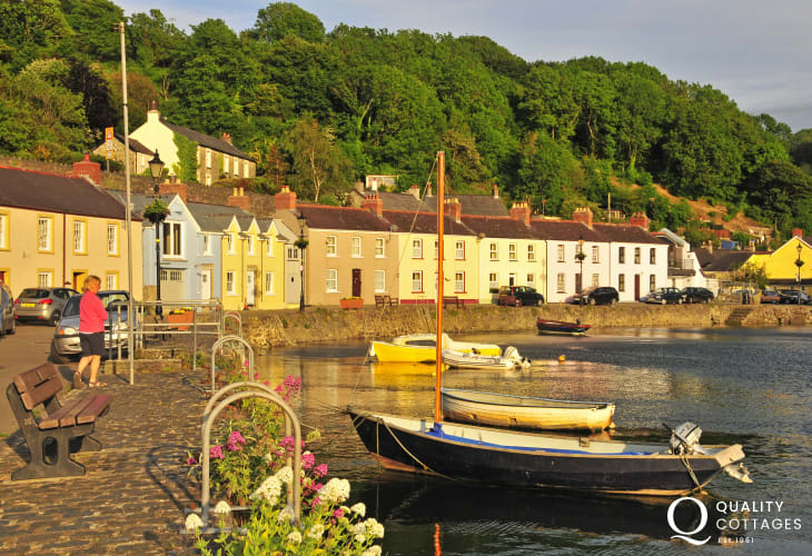 Enjoy Lower Town Harbour, Fishguard for a quiet stroll along the quayside