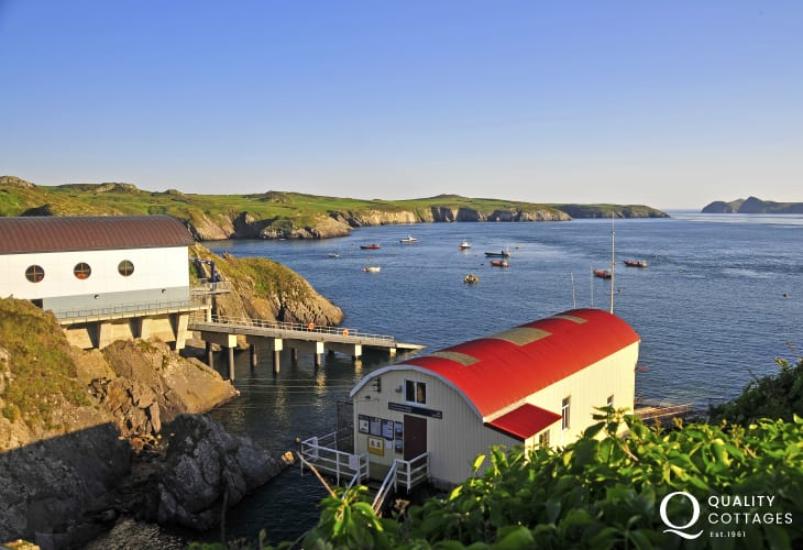The old and new lifeboat stations at St Justinians are on the coastal path - well worth a visit
