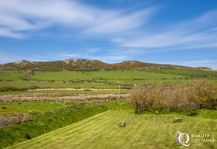 Views over the St Davids Peninsula from the master bedroom