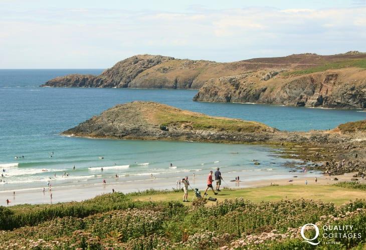 St Davids nine hole golf course overlooks Whitesands - fabulous views over the bay