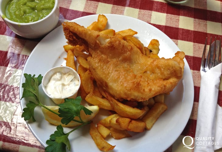Book a table at The Shed Bistro in Porthgain for the most delicious fish 'n' chips