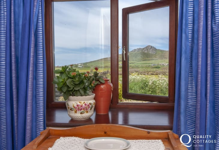 Carn Llidi mountain views from the ground floor twin