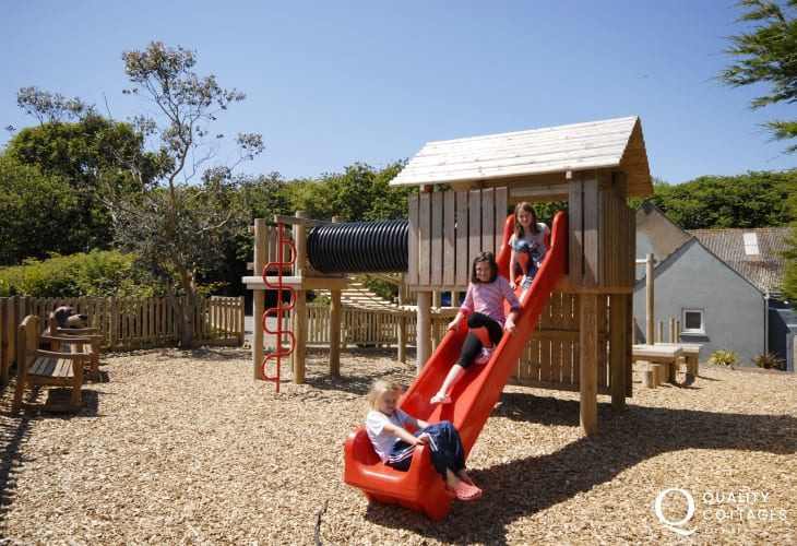 The play area near the cottage is a big hit with youngsters