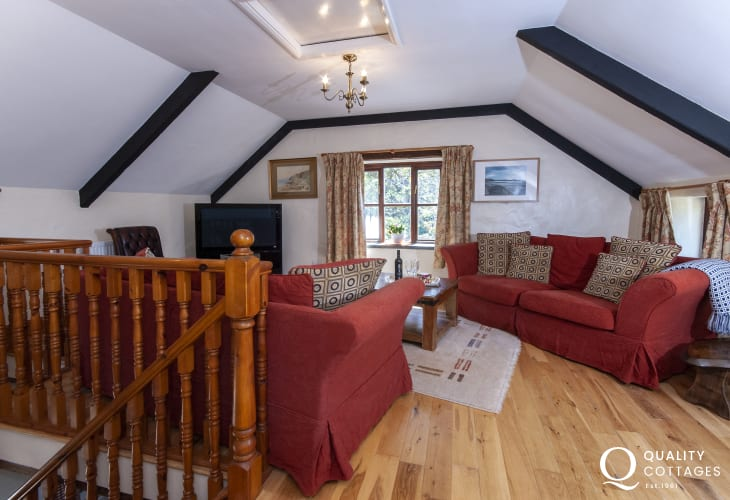 St Davids holiday cottage near Whitesands - first floor sitting room with Freeview digital tv