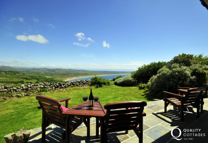 North Wales Holiday Cottage Patio Seating With Sea Views