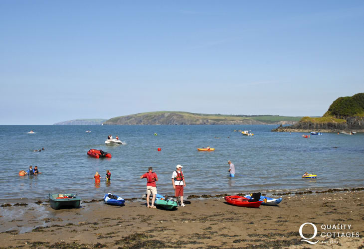 Cwm yr Eglwys - a picturesque cove with the 12th century Church of St Brynach is a short drive away