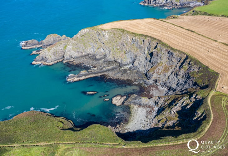 Stunning aerial view of Ynys Barry