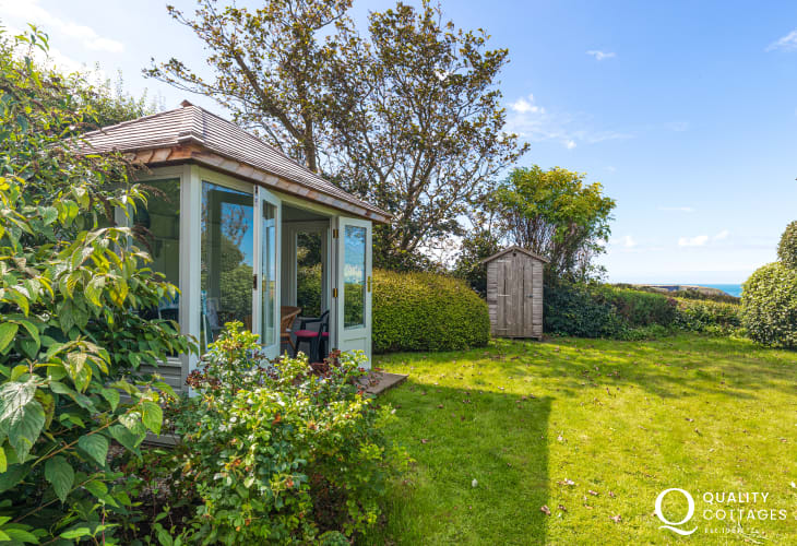 Garden Room in back garden of Swn y Mor