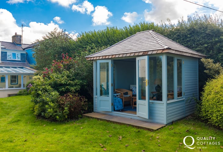 Summer House in garden of Trefin Holiday cottage