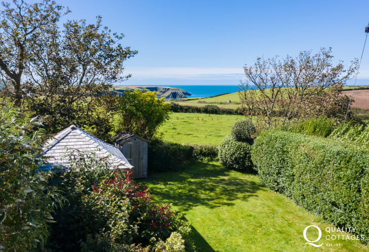 Stunning views over Pembrokeshire Coast and sea views
