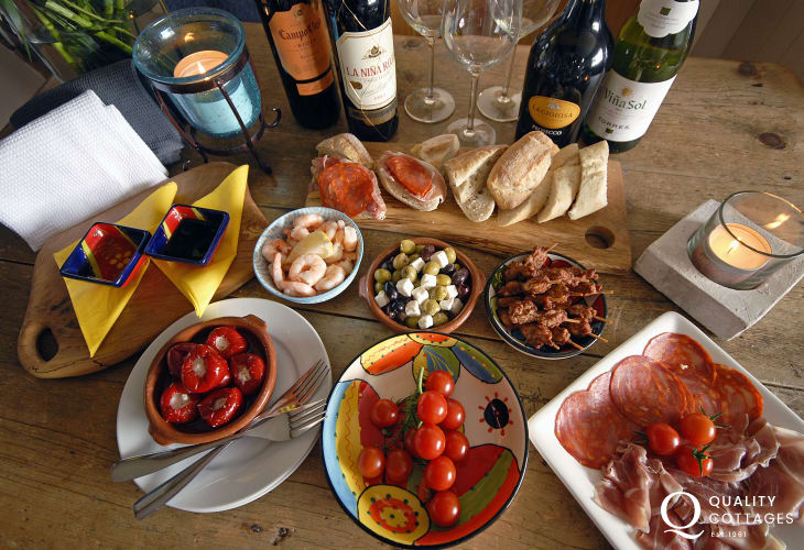 Share Welsh Tapas at The Kings Arms just a short walk from the cottage