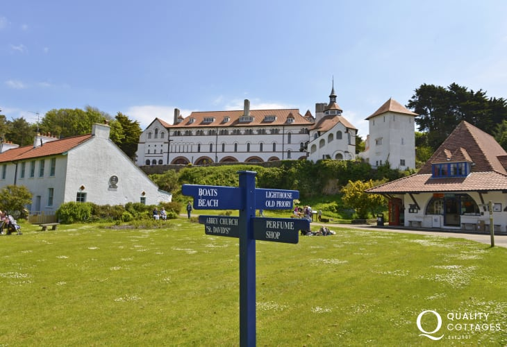 Do visit Caldey Island - home to Cistercian Monks and famous for its chocolate and perfume