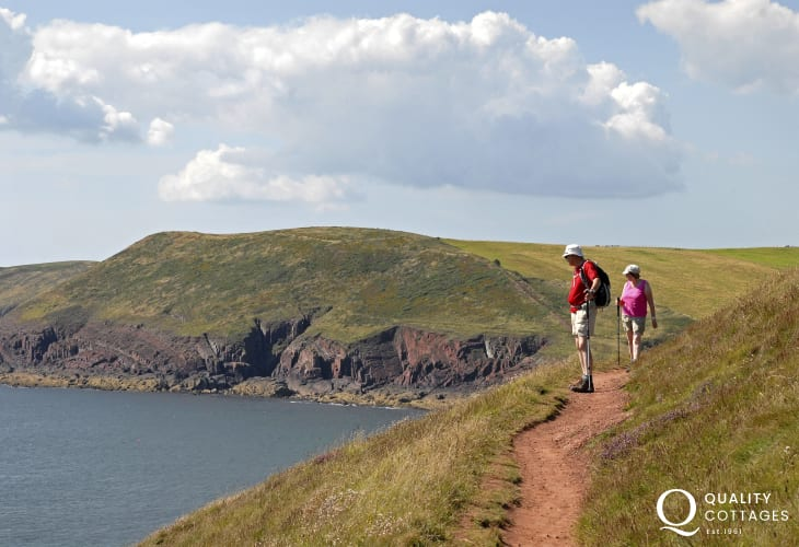 The Pembrokeshire Coast Path at Manorbier