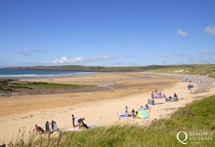 Freshwater West - a beautiful stretch of golden sands