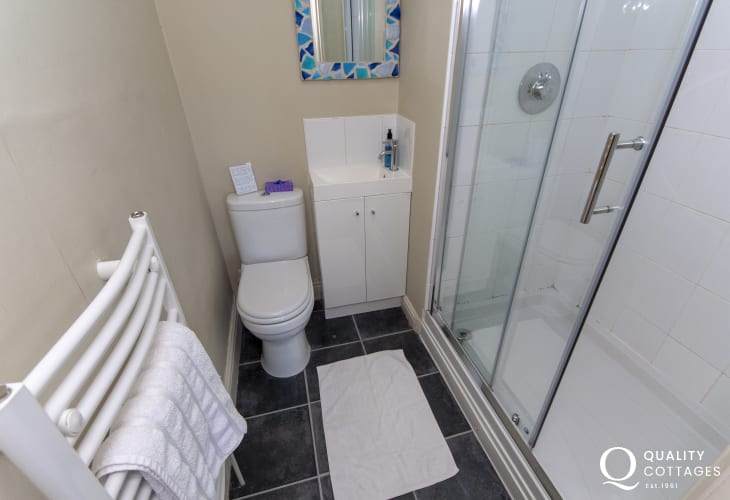 Aberaeron holiday home - master en suite shower