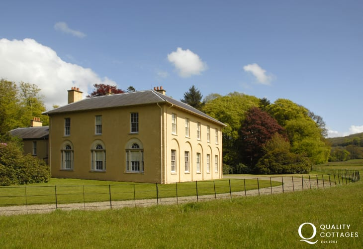 National Trust mansion and walled garden at Llanerchaeron
