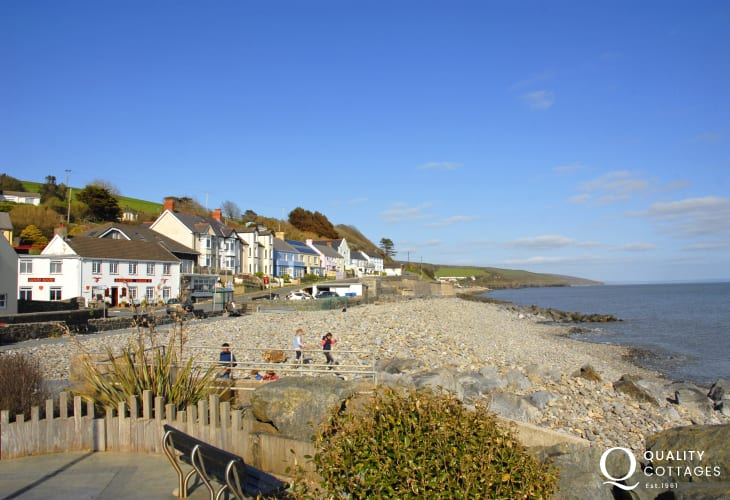 Amroth - a small seaside village sits at the start (or end) of the Pembrokeshire Coast Path