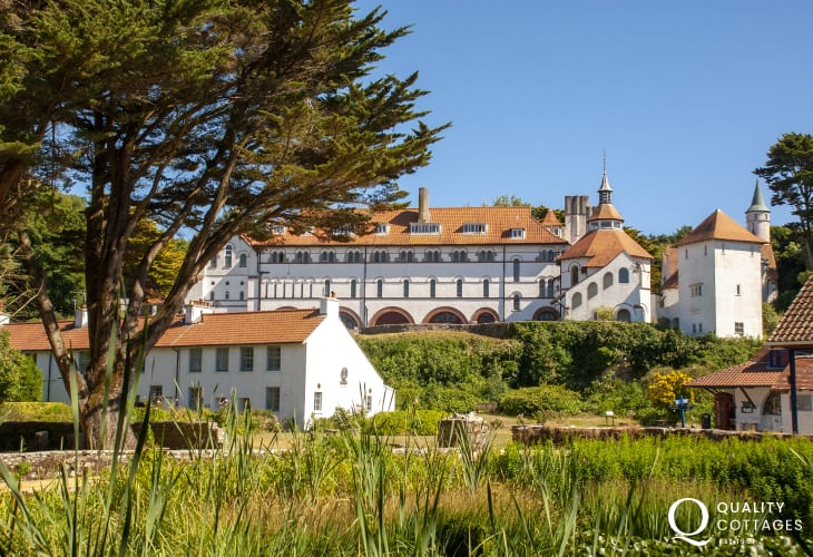 The Cistercian Monastery on Caldey overlooks the village green - a true haven of peace and tranquillity