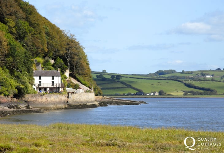Dylan Thomas' former home, The Boathouse, sits alongside the 'heron-priested shore'