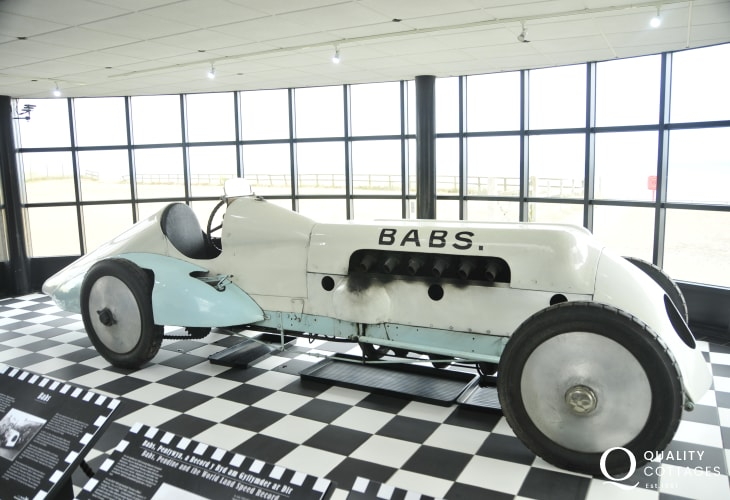 'Babs', the land speed record car built and driven by John Parry-Thomas is now in Pendine Museum of Speed