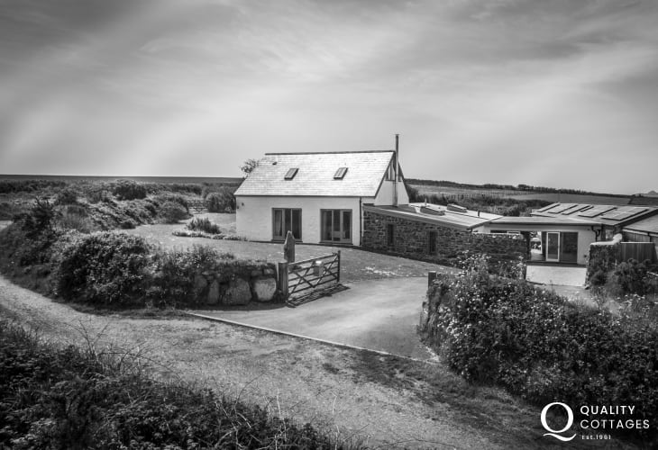 Black and white photo of Joyful House