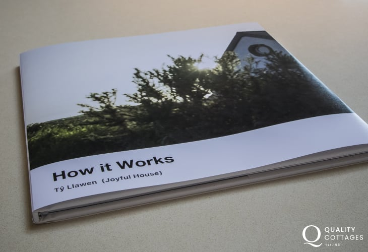 Book on how it works for Joyful House (Ty Llawen)