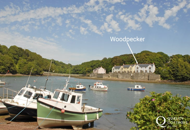 Riverside holiday home on the Milford Haven Waterway, Pembrokeshire