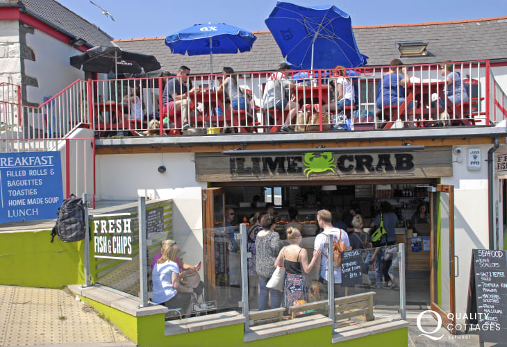 Try The Lime Crab for great fish & chips