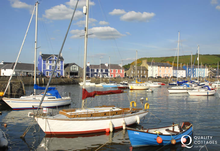 Aberaeron - one of the prettiest towns along the Welsh coast with Georgian style houses and a picturesque harbour