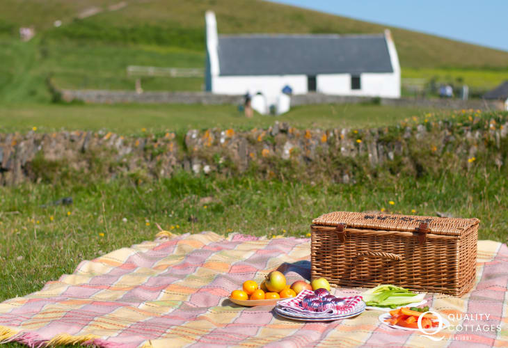 The Church of the Holy Cross at Mwnt - perfect for a picnic