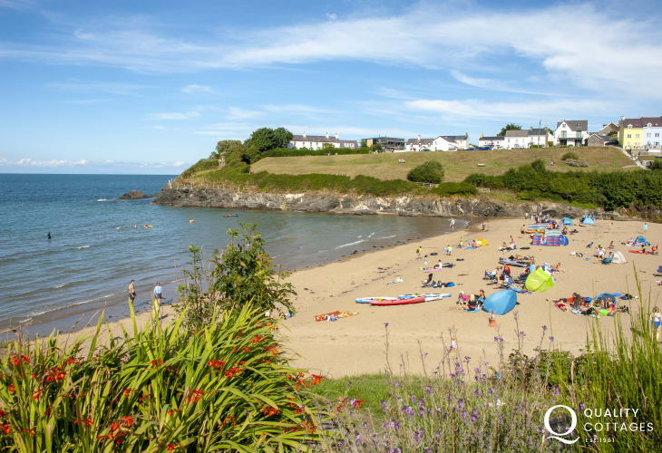 Aberporth - a picturesque fishing village which overlooks two golden sandy beaches and popular with families