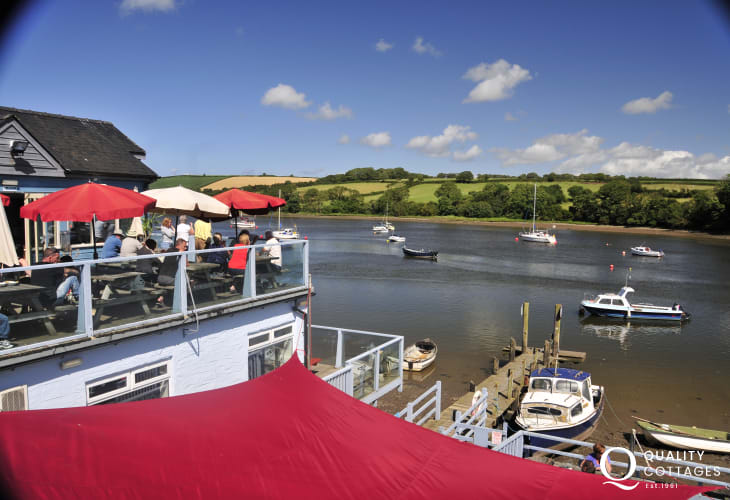 Try The Ferry Inn, St Dogmaels for good pub grub on the deck over looking the Teifi River