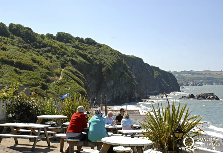 Walk from Aberporth along the Heritage Coast Path to Tresaith and enjoy a refreshing drink at 'The Ship Inn'