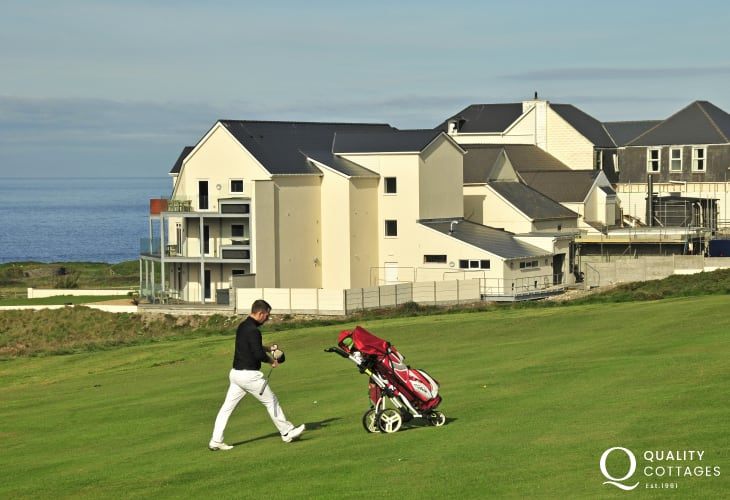 Golf at the Gwbert Hotel and Spa with stunning views over the Teifi Estuary is a short walk away