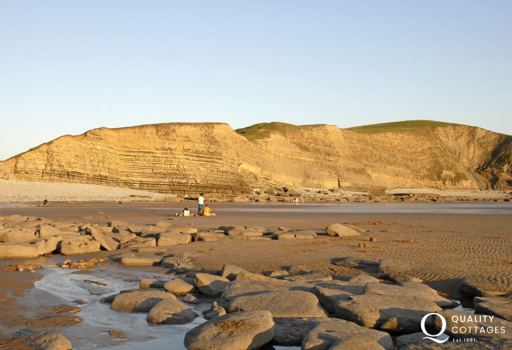 Enjoy the rock pools down on the beach nearby