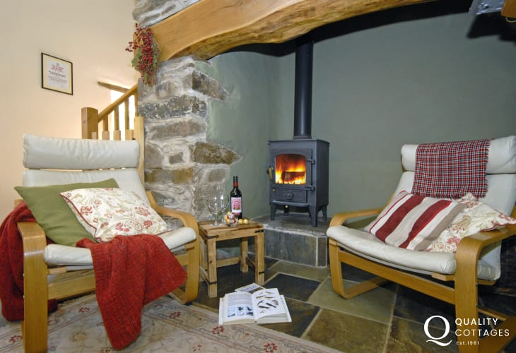 Gwaun Valley holiday cottage with wood burning stove