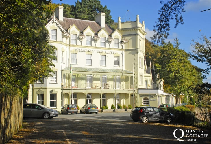 Fishguard Bay Hotel - an historic building with lovely gardens overlooking the sea