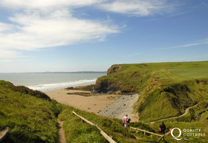 Druidston Haven - a beautiful unspoilt beach bounded by towering cliffs is a short walk away