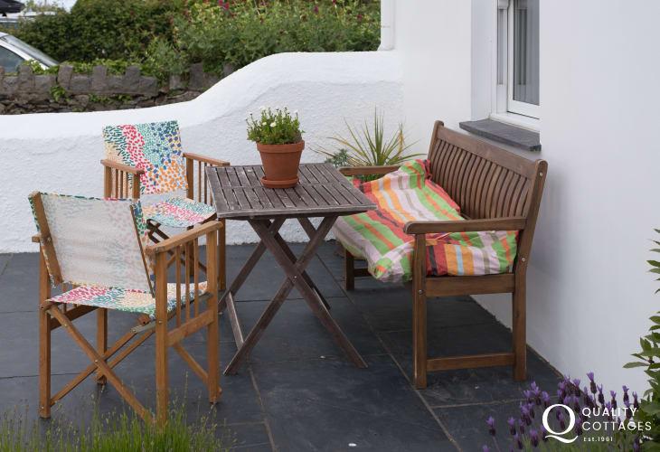 Luxury cottage Morfa Nefyn sleeping 6  - patio