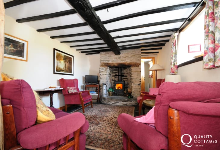 Cottage in Wales with log burner - lounge