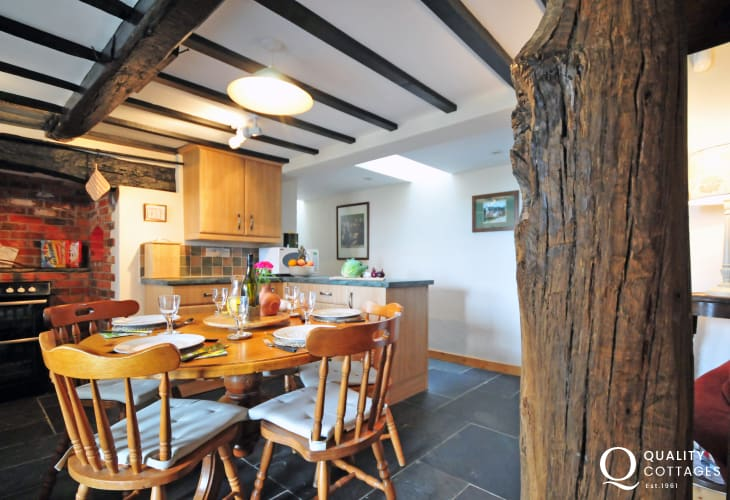 Welsh holiday cottage with log burner - kitchen