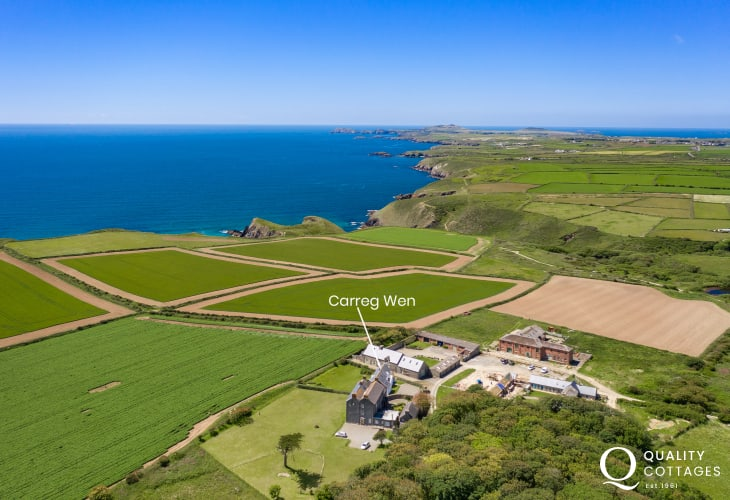Aerial location view of Carreg Wen