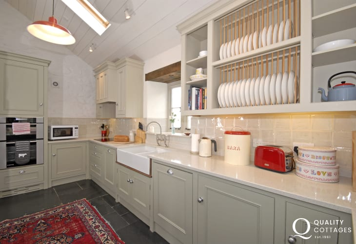 Luxury fitted galley style kitchen